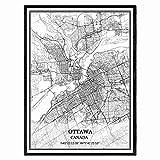 Ottawa Kanada Karte Wandkunst Leinwand drucken Poster