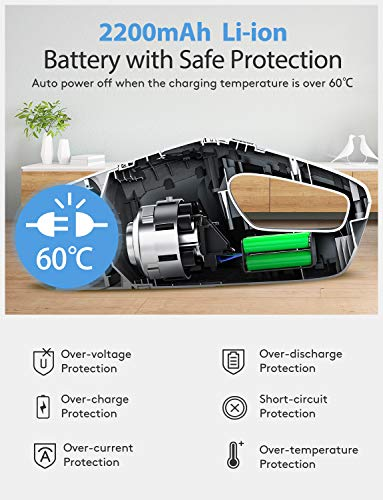 Holife Handheld Vacuum Cordless Wet Dry Bagless Cleaner,Portable Powerful Hand Car Vac Pet Hair Cleaner with Cyclonic Suction