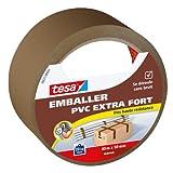tesapack Ultra Strong - Ruban Adhésif d'Emballage en PVC Solide et Sécurisé - Marron - 40 m x 50 mm