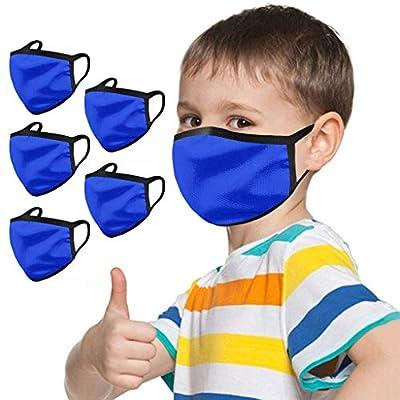 Kamendita Kids Fashion Halloween Classic Pattern Reuseable Washable Breathable Cotton Face Bandanas Outdoors School Party