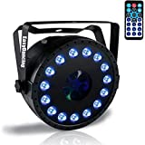 Party DJ Stage Light 2 in 1 (Par Light and Pattern Light) LED RGB with12CH for Wedding Disco Show Event (Pattern)