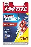 Loctite Super Glue-3 Original, pegamento universal con triple resistencia, adhesivo transparente, pegamento instantáneo y fuerza instantánea, 2x3 g