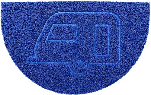 BSZCircle Door Mat Alfombrilla Lavable a Prueba de Agua 70x44cm (Negro, Forma Ancla) - Use Interiores o al Aire Libre, Azul, Caravan- (70x44cm)