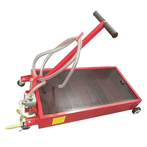 COLIBROX 20 Gallon Oil Drain Pan Low Profile Dolly with Pump 8' Hose and Wheels Car Truck