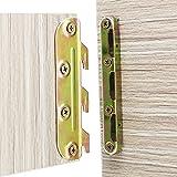 4 Set Bed Rail Brackets-Bed Frame Hardware for Wood Bed Frame Headboards Footboards - 5inch (Screws Included)