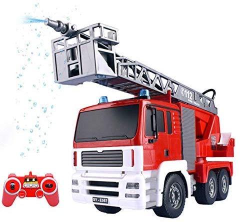 Control Remoto Eléctrico Coche Bomberos, Coches Juguete Spray Fuego, Motores Riego Fuego...