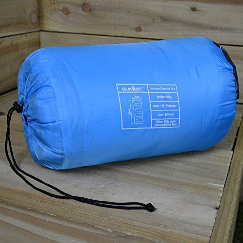 Summit PMS Sac de Couchage enveloppe Therma 250 g. Bleu