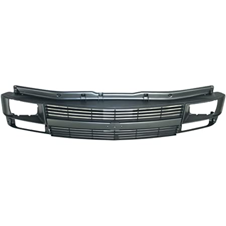 Perfit Liner New Front Gray Grille Grill Chevy Compatible With CHEVROLET Astro Van With Sealed Beam Head Lamp Hole Fits GM1200372 88968936