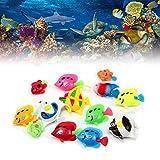10 piezas de plástico artificial simulación de peces acuario falso tanque de peces flotante decoración paisaje