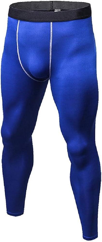 Men's Fleece Lined Leggings Thermal Underwear Pants Winter Long Johns Leggings Athletic Base Layer Bottoms