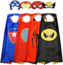 Easony Toys for 3-10 Year Old Boys, Fun Cartoon Superhero Capes for Kids Birthday Gifts Presents for 3-10 Year Old Boys Toys Age 3-10 (Boy Four Pack)
