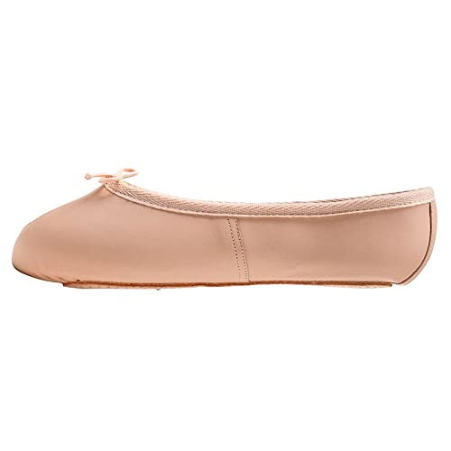 e52322c8550f Katz Dancewear Girls Ladies Pink Leather WIDE FIT full sole Ballet Dance  Shoes