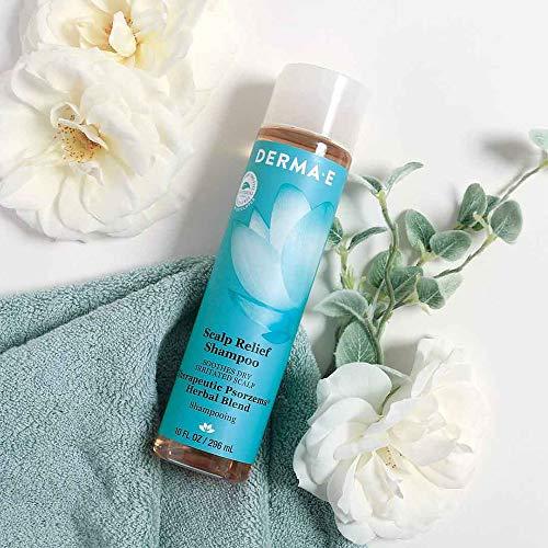 DERMA E Scalp Relief Shampoo with Psorzema Herbal Blend, 8 oz