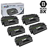 LD Compatible Toner Cartridge Replacement for HP 05X CE505X High Yield (Black, 5-Pack)