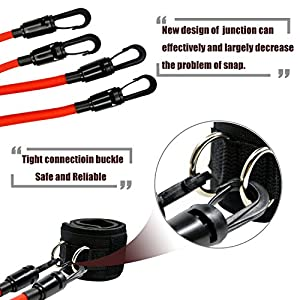 FIGROL Leg Resistance Bands Speed Agility Training Strength Ankle Straps Jump Trainer with 4 Exercise&Fitness Bands-for Workout Football Basketball Taekwondo Yoga Boxing