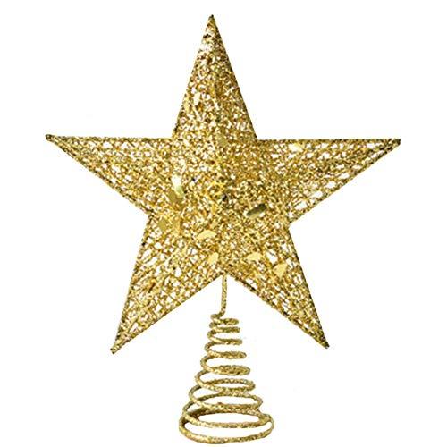 LAVALINK Glitter Mini Star Christmas Tree Toppers Gold Mini Star Tree Topper for Xmas Party Christmas Tree Decor