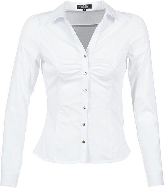 Morgan Chemise Boutonnée Caram Camisa para Mujer: Amazon.es: Ropa