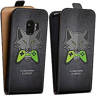 DeinDesign Tasche kompatibel mit Samsung Galaxy S9 Flip Case Hülle VFL Wolfsburg Esport Merchandise Fanartikel