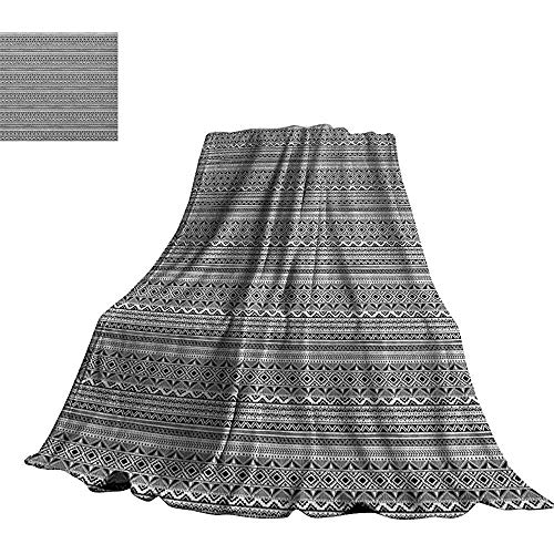 mallcentral-EU Ethnische, weiche Decken-geometrische Verzierungs-Schwarzweiss-Hand gezeichnete Art-gebürtige Peruanische Volksgrenzen