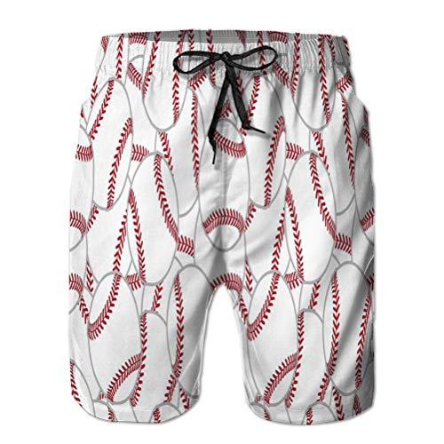 Xunulyn Bañadores de Hombre Trajes de baño Shorts de Playa Pelota de Tenis Pelota de Tenis baldosas Bufanda Papel Tapiz gráfico Aislado Positivo