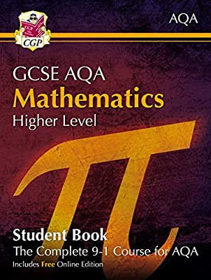 New Grade 9-1 GCSE Maths AQA Student Book - Higher (with Online Edition) (CGP GCSE Maths 9-1 Revision) by Coordination Group Publications Ltd (CGP)