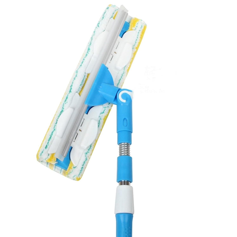 伝染性の熱心な中止します両面ガラススキージクリーナー延長可能な引き込み可能なウィンドウスプリング設計ガラススクレーパー