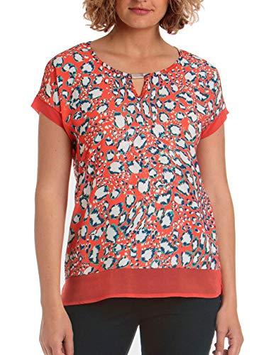 Punto roma Camiseta Mujer Estampada Roja