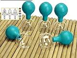 Lunata (Upgrade 2020) SET 5x Juego de Ventosas con Bola de Succión, Ø 60, Ventosa anticelulitica, Ventosas para un Masaje profesional, azul