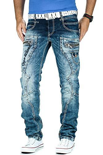 Cipo & Baxx Herren Jeans 296, Blau, 34W / 34L