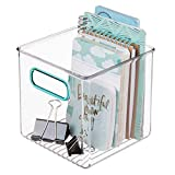 mDesign Caja de almacenaje con Asas integradas – Caja organizadora para...