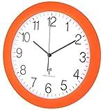 TFA Dostmann 60.3512 Orologio Da Parete Radiocontrollato Con Movimento Silenzioso 300 mm (arancione)
