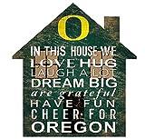 Fan Creations NCAA Oregon Ducks Unisex University of Oregon House Sign, Team Color, 12 inch