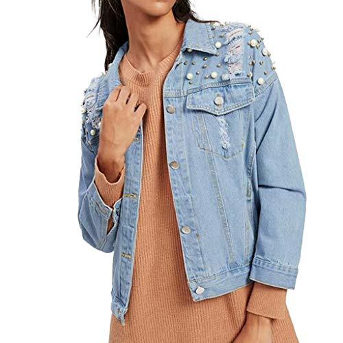FRAUIT Giacche Jeans Donna Corte Vintage Giacca Denim con Strass Cardigan Invernale Corto Felpe Ragazza Tumblr Larghe Felpa Giubbotto Autunnale Parka