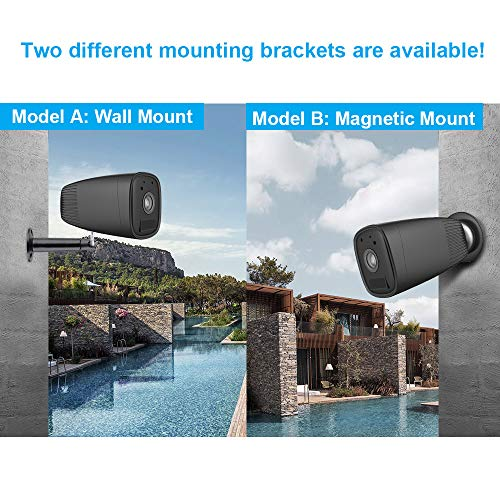 Outdoor Wireless Battery Security Camera,FUVISION 1080P CCTV Security Camera System,Motion Detect,Night Vision,IP66 Waterrproof,12000mAh Battery,2-Way Audio IP Camera for Home and Office (Black)