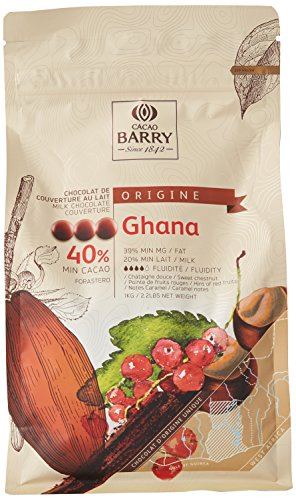 CACAO BARRY 40% Min Cacao Chocolat Ghana Pistoles 1 kg