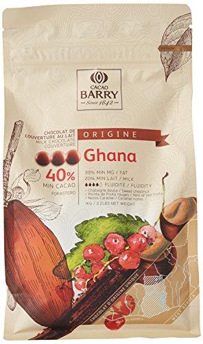 CACAO BARRY 40% Min Cacao Chocolat Ghana Pistoles 1 kg