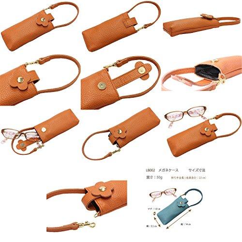 LIMEmadeinJapan(ライムメイドインジャパン)本革メガネケースL8002〔イエロー〕メガネホルダーレディース日本製フラワーライン