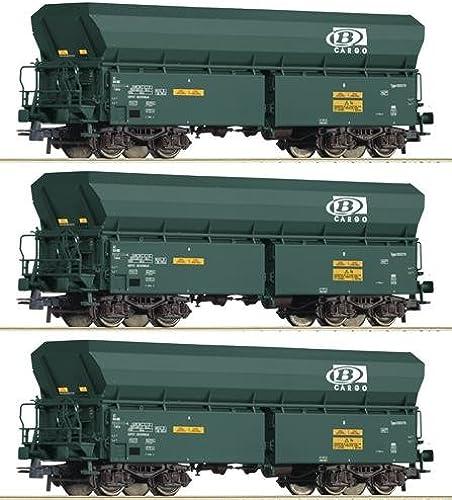 Roco 76132 3-TLG. Set  Selbstentladewagen, SNCB