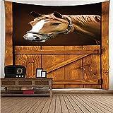 QWEFGDF Tapiz de sala Decoración de tapices, utilizada para la decoración del hogar de la casa 100x150 cm Caballo animal