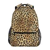 Luckyeah Sac à dos d'école imprimé léopard pour adolescent, garçon, fille, enfants Sac à dos pour voyage, camping, gym, randonnée