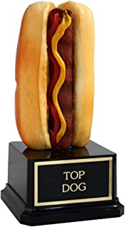 Far Out Awards Hot Dog Trophy - Hotdog Eating Contest, Top Dog Award for Recognition and Funny Trophy
