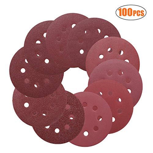 5 x 40//60 180//240 Grit for Multi-Sanders 80//120 Lot de 30 disques abrasifs Velcro /Ø 225 mm 8 Holes
