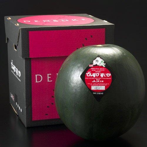 (北海道産)でんすけすいか(秀品)L1玉6kg北海道産西瓜でんすけスイカ