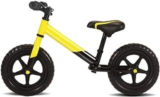 AMDHZ 子供バランス車 1?6歳 キッズバランスバイク ペダル自転車なし EVAポリマーフォームタイヤ アルミバランスバイク 簡単制御 5CMタイヤを広げる (Color : Yellow+Black, Size : 100x60cm)