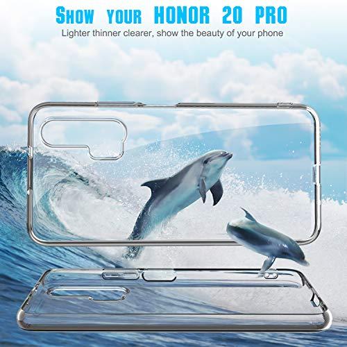 YUNRAY Honor 20 Pro Hülle Transparent Slim Silikon Case Cover Druchsichtig Dünn Handyhülle Kratzfest Schutzhülle Flexible TPU Crystal Clear Hülle für Honor 20 Pro, 2019 Version (Transparent) - 6