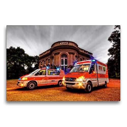 CALVENDO Premium Textil-Leinwand 75 x 50 cm Quer-Format NEF/RTW Rettungsdienst Braunschweig, Leinwanddruck von Markus Will