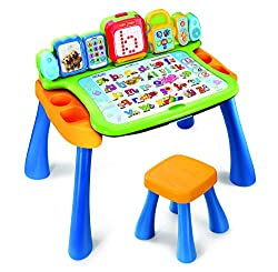 IDEAL PRE SCHOOL TODDLER TOY: Encourage learning with VTech's Touch and Learn children's desk - touch, draw, learn and write using all the different available features while having heaps of fun! PACKED WITH EDUCATIONAL FEATURES: Features an interacti...