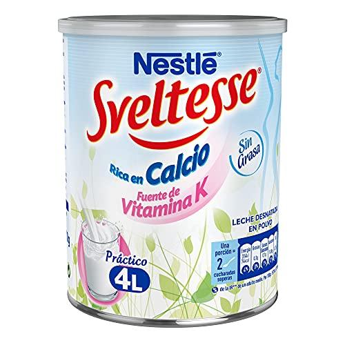 Sveltesse Leche desnatada en polvo - Paquete de 12 x 400 gr - Total: 4.8 kg
