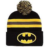 DC Comics Batman Logo Pom Beanie Black