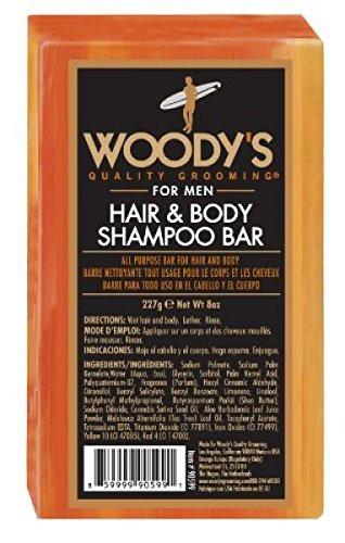 Woody's Hair & Body Shampoo Bar for Men, 227 g